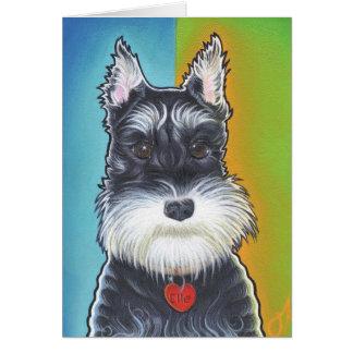 Schnauzer del perro salvaje tarjeta de felicitación