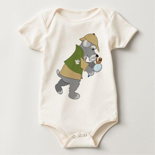 Schnauzer Detective Baby Creeper