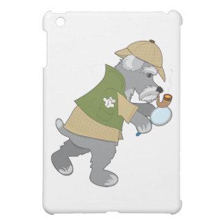 Schnauzer Detective iPad Mini Cases