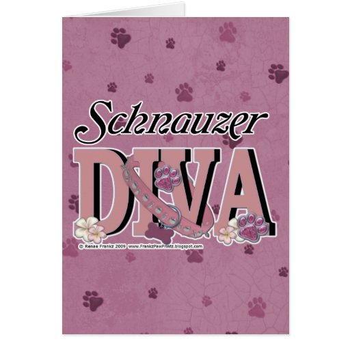 Schnauzer DIVA Card