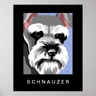 Schnauzer Dog Art Poster