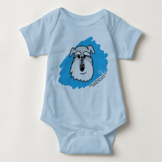 Schnauzer Dog - Baby Body Suit (Custom Colors) Baby Bodysuit