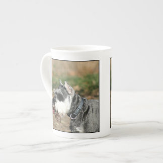 Schnauzer dog bone china mugs