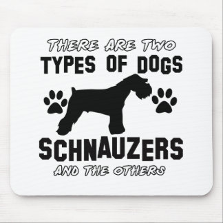 Schnauzer dog breed designs mouse pad
