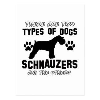 Schnauzer dog breed designs postcard