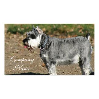 Schnauzer dog business card template