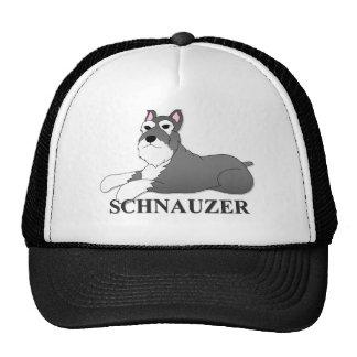 Schnauzer Dog Cartoon Trucker Hat