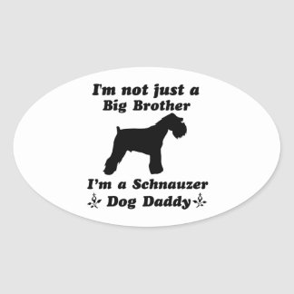 Schnauzer  dog designs oval sticker