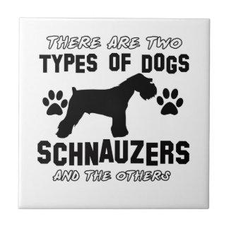 Schnauzer dog Designs Tile
