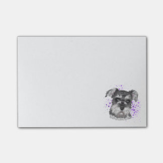 Schnauzer Dog Drawing Post-it Notes