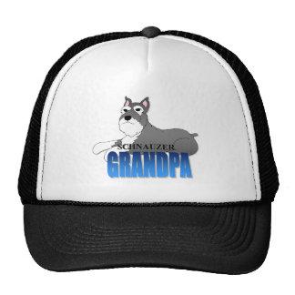 Schnauzer Dog Grandpa Trucker Hat