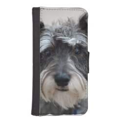 iPhone 5/5s Wallet Case with Miniature Schnauzer Phone Cases design