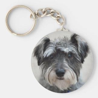 Schnauzer Dog Keychain