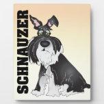 Schnauzer Dog Photo Plaque