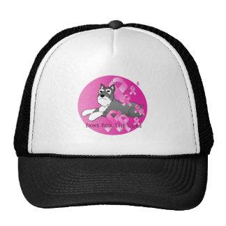 Schnauzer Dog Pink Ribbon Trucker Hat