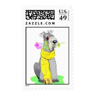 Schnauzer Dog Postage Stamps