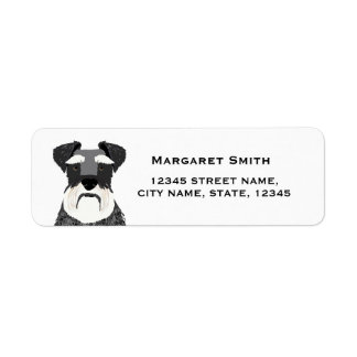 schnauzer dog return address label