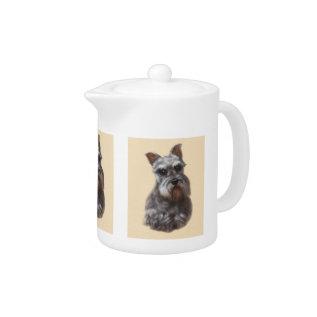 Schnauzer Dog Teapot at Zazzle