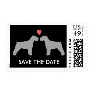 Schnauzer Dogs Wedding Save the Date Postage