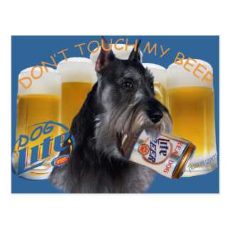 Schnauzer Don't Touch My Beer Postcard