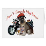 Schnauzer Don't Touch My Gift products Greeting Cards