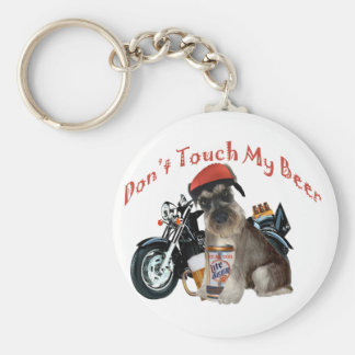 Schnauzer Don't Touch My Gift products Keychain