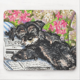 Schnauzer Dreams Print Mouse Pad