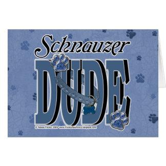 Schnauzer DUDE Card