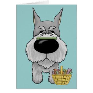 Schnauzer - Easter Bone Hunt, Anyone? Card