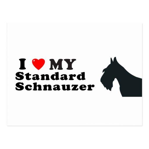 Schnauzer estándar postales