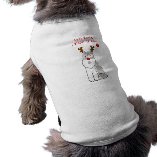Schnauzer estimado Santa Camisas De Mascota