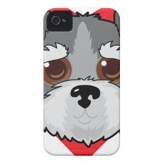 Schnauzer Face Case-Mate iPhone 4 Case