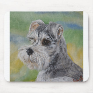 Schnauzer face - You customize Mouse Pad