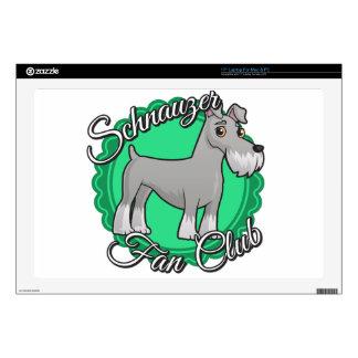 "Schnauzer Fan Club Skins For 17"" Laptops"