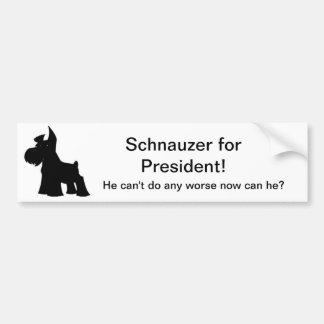 Schnauzer for President Bumper Sticker