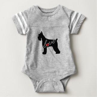 Schnauzer  / Giant Schnauzer Love Baby Bodysuit