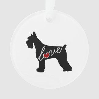 Schnauzer  / Giant Schnauzer Love Ornament