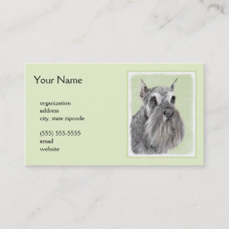 Schnauzer (Giant, Standard) Painting - Dog Art Business Card