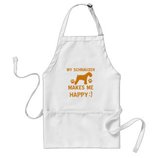 Schnauzer gift items adult apron