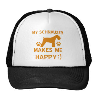 Schnauzer gift items trucker hat