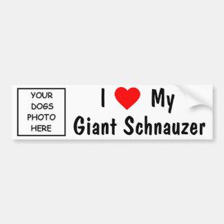 Schnauzer gigante pegatina de parachoque