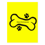 Schnauzer gigante con diseño del hueso N Pawprint Postal