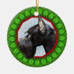 Schnauzer gigante Howliday feliz Ornaments Para Arbol De Navidad