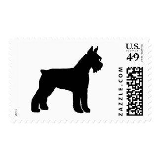 Schnauzer gigante (negro) sello postal