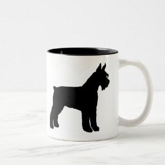 Schnauzer gigante (negro) taza de café de dos colores