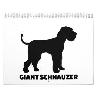 Schnauzer gigante calendario