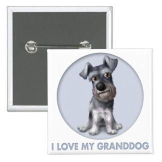 Schnauzer Granddog Pinback Button