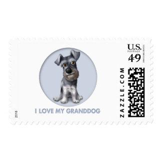 Schnauzer Granddog Postage