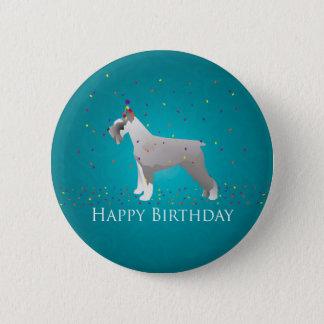 Schnauzer Happy Birthday Design Pinback Button