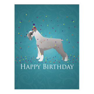 Schnauzer Happy Birthday Design Postcard